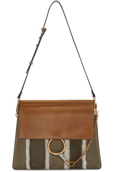 Chloé - Brown Shearling Medium Faye Bag