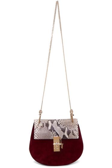 Chloé - Purple Python Small Drew Saddle Bag