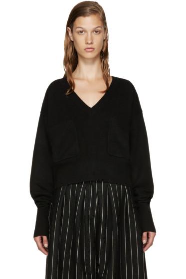 Chloé - Black Cashmere V-Neck Sweater