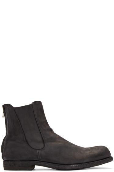 Officine Creative - Grey Suede Zip Boots