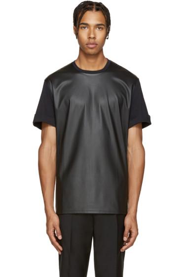 Neil Barrett - Black Faux-Leather T-Shirt