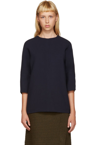 Marni - Navy Wool Blouse