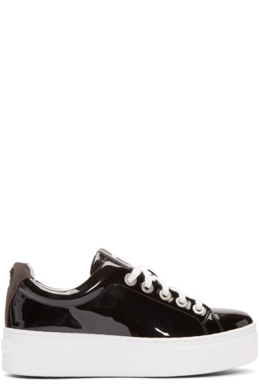 Kenzo - Black Patent Leather Platform Sneakers