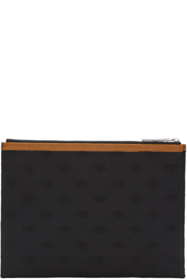 Kenzo - Black Embossed Zip Pouch