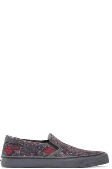 Kenzo - Grey Flying Tiger Slip-On Sneakers