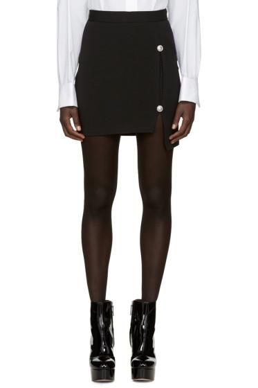 Versus - Black Asymmetric Slit Miniskirt