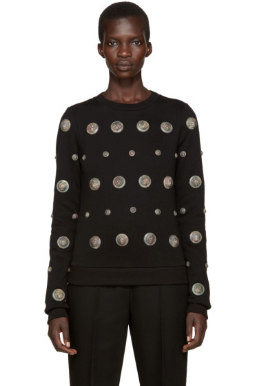 Versus - Black Camo Lion Medallion Sweatshirt