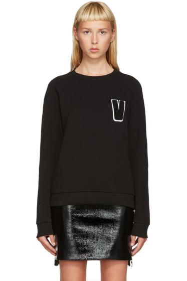 Versus - Black Embroidered V Sweatshirt