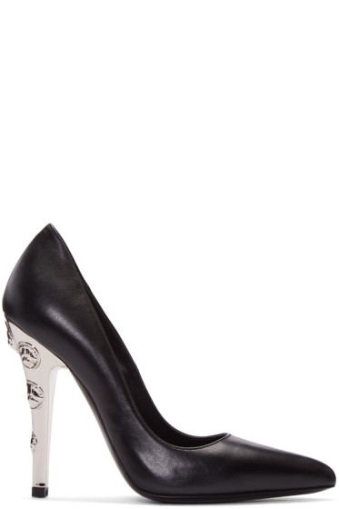 Versus - Black Leather & Metal Heels