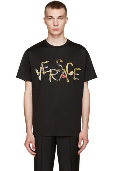 Versace - Black Belt Logo T-Shirt