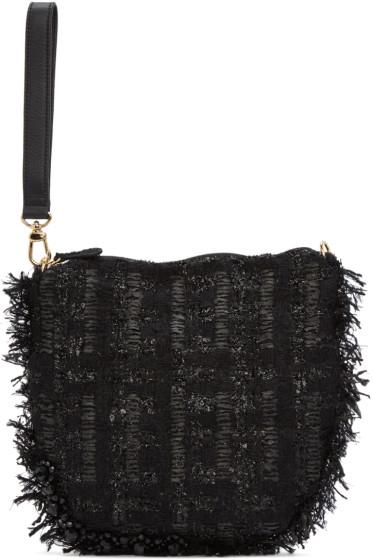 Simone Rocha - Black Tweed Clutch
