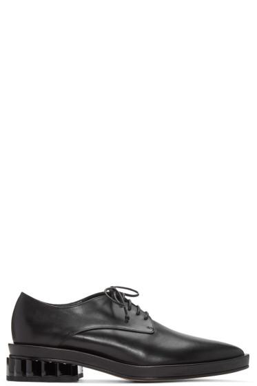 Simone Rocha - Black Scalloped Heel Derbys