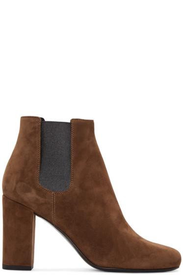 Saint Laurent - Brown Babies Ankle Boots