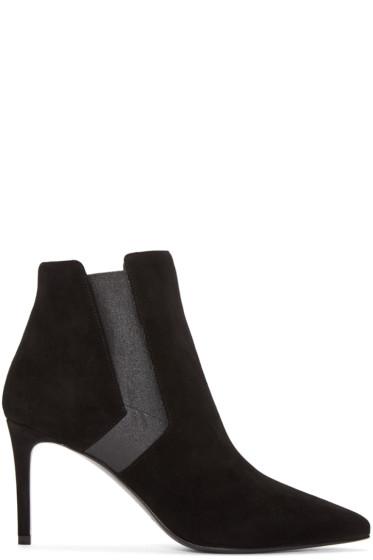 Saint Laurent - Black Suede Paris Boots