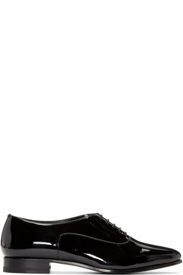 Saint Laurent - Black Lulu Richelieu Oxfords