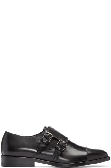 Saint Laurent - Black Dylan Monkstrap Derbys