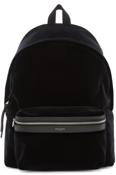 Saint Laurent - Black Velvet Backpack