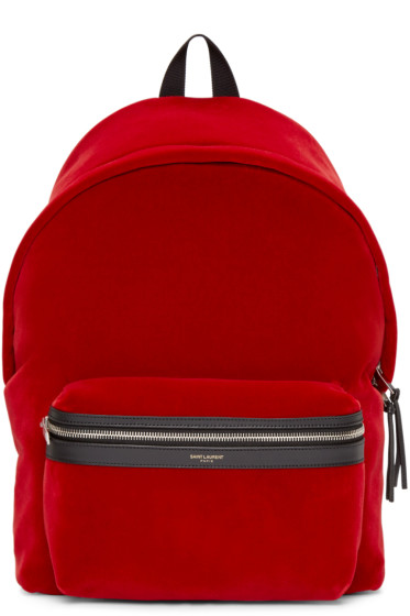 Saint Laurent - Red Velvet Backpack