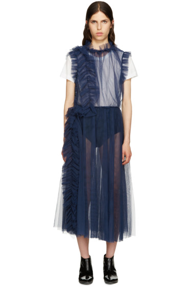 MSGM - Navy Crinoline Dress