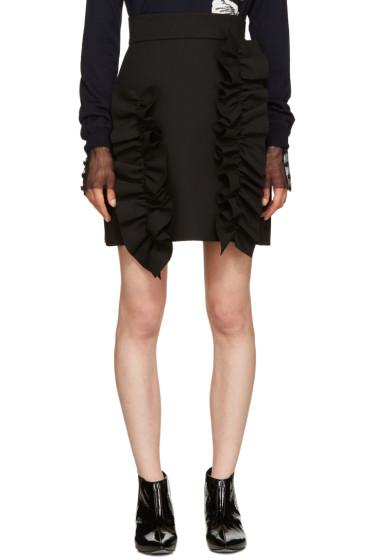 MSGM - Black Ruffle Miniskirt
