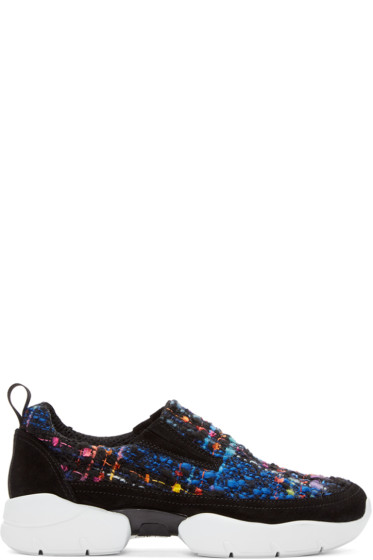 MSGM - Multicolor Tweed Bouclé Sneakers