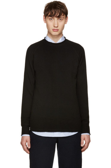 Sacai - Black Wool Raglan Sweater