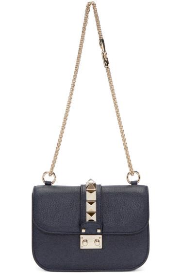 Valentino - Navy Small Lock Bag