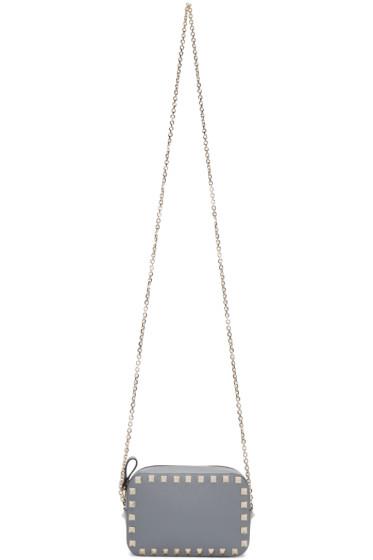 Valentino - Grey Rockstud Camera Bag