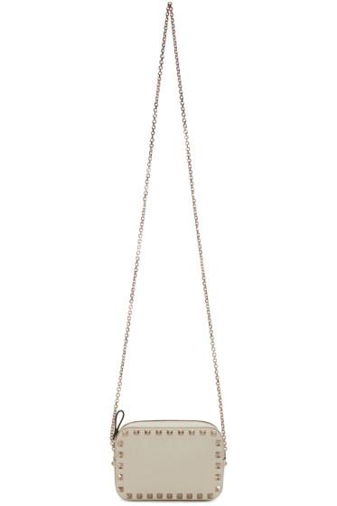 Valentino - White Rockstud Camera Bag