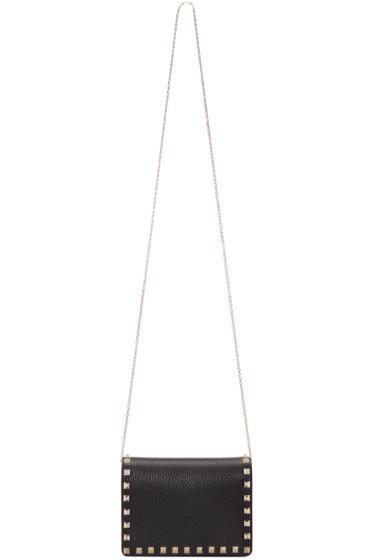 Valentino - Black Small Rockstud Shoulder Bag