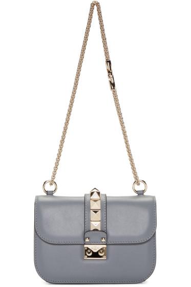 Valentino - Grey Small Lock Bag