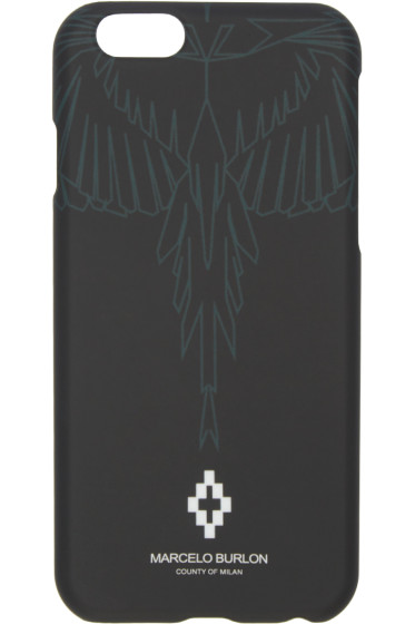 Marcelo Burlon County of Milan - Black Aserele iPhone 6/6S Case