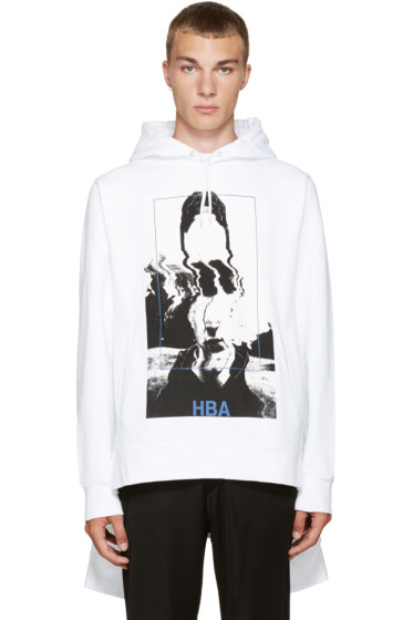 Hood by Air - White Montgomery Double Hoodie