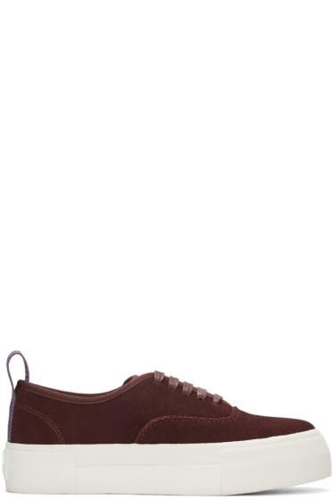 Eytys - Burgundy Suede Mother Sneakers