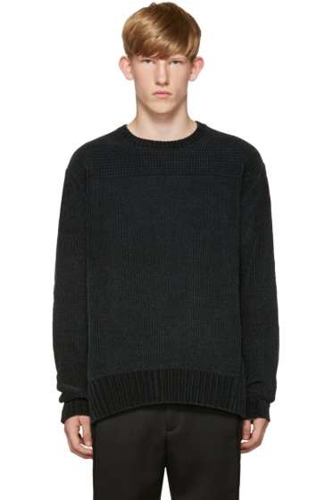 Wooyoungmi - Green Knit Velour Sweater