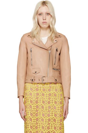 Acne Studios - Pink Leather Mock Jacket