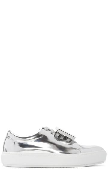 Acne Studios - Silver Metallic Leather Adriana Sneakers