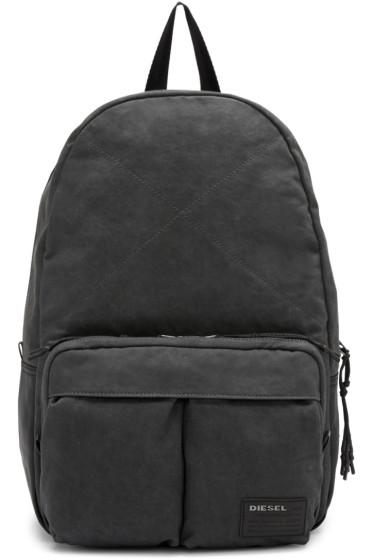 Diesel - Grey Denim D-Keep Backpack