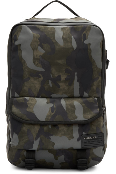 Diesel - Green Camo F-Close Backpack