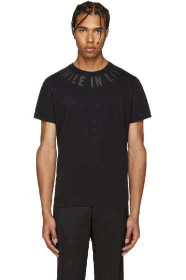 Diesel - Black T-Diego-Fl 'Smile in Life' T-Shirt