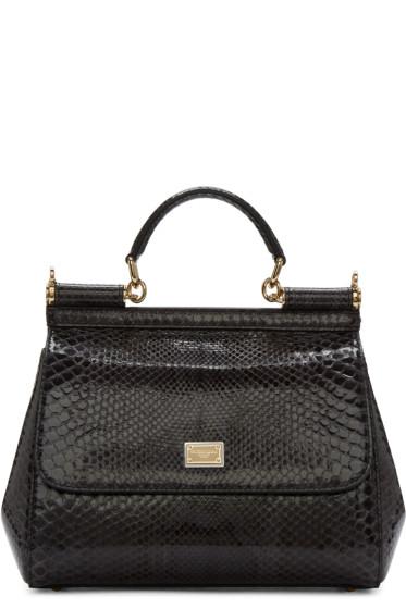 Dolce & Gabbana - Grey Python Medium Miss Sicily Bag