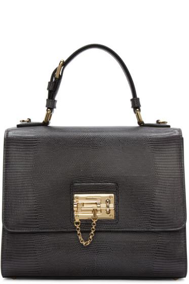 Dolce & Gabbana - Grey Iguana-Embossed Monica Bag