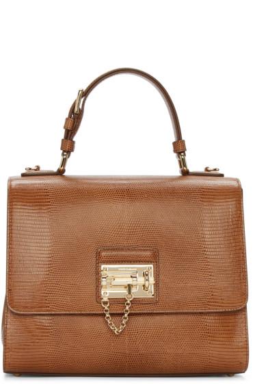 Dolce & Gabbana - Tan Iguana-Embossed Monica Bag