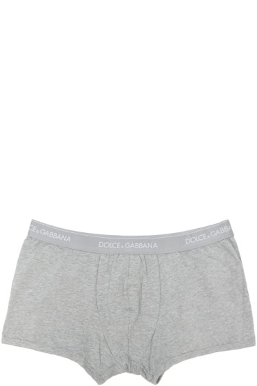 Dolce & Gabbana - Grey Boxer Briefs Two-Pack