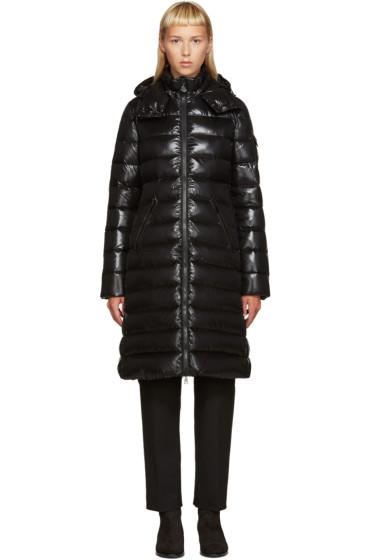 Moncler - Black Down Long Moka Coat