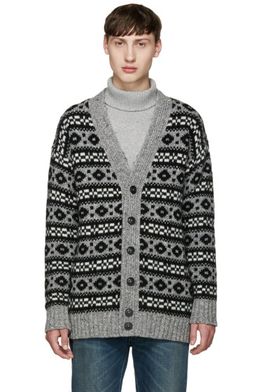 Marc Jacobs - Grey Oversized Icelandic Cardigan