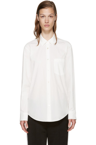T by Alexander Wang - White Poplin Shirt