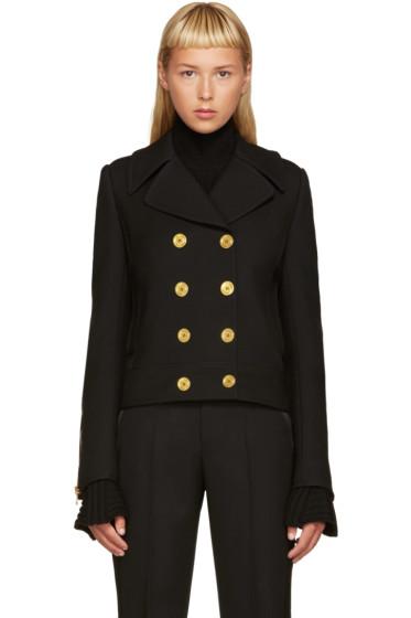 Alexander McQueen - Black Double-Breasted Jacket