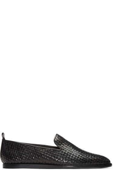 H by Hudson - Black Woven Ipanema Loafers