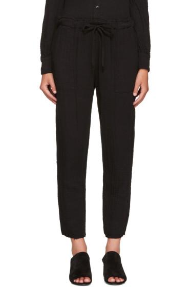 Raquel Allegra - Black Drawstring Trousers
